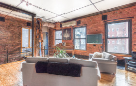 155 Duane Street, tribeca, townhouse, living room