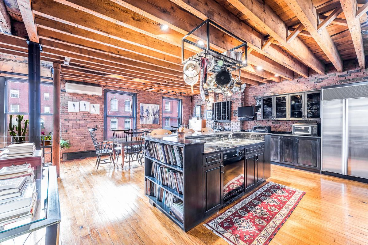 155 Duane Street, Tribeca, townhouse, kitchen