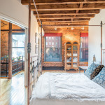 155 Duane Street, bedroom, tribeca, townhouse