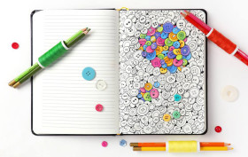 coloring notebook, adult coloring book