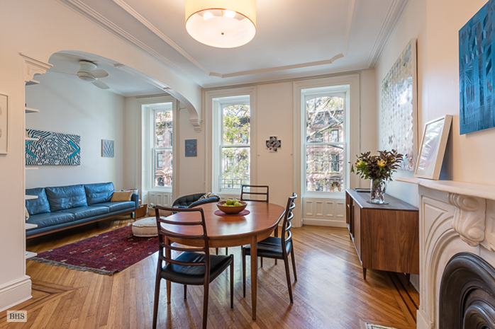 Check out the retro kitchen in this otherwise historic italianate 30 south portland fort greene brownstone dining room malvernweather Images