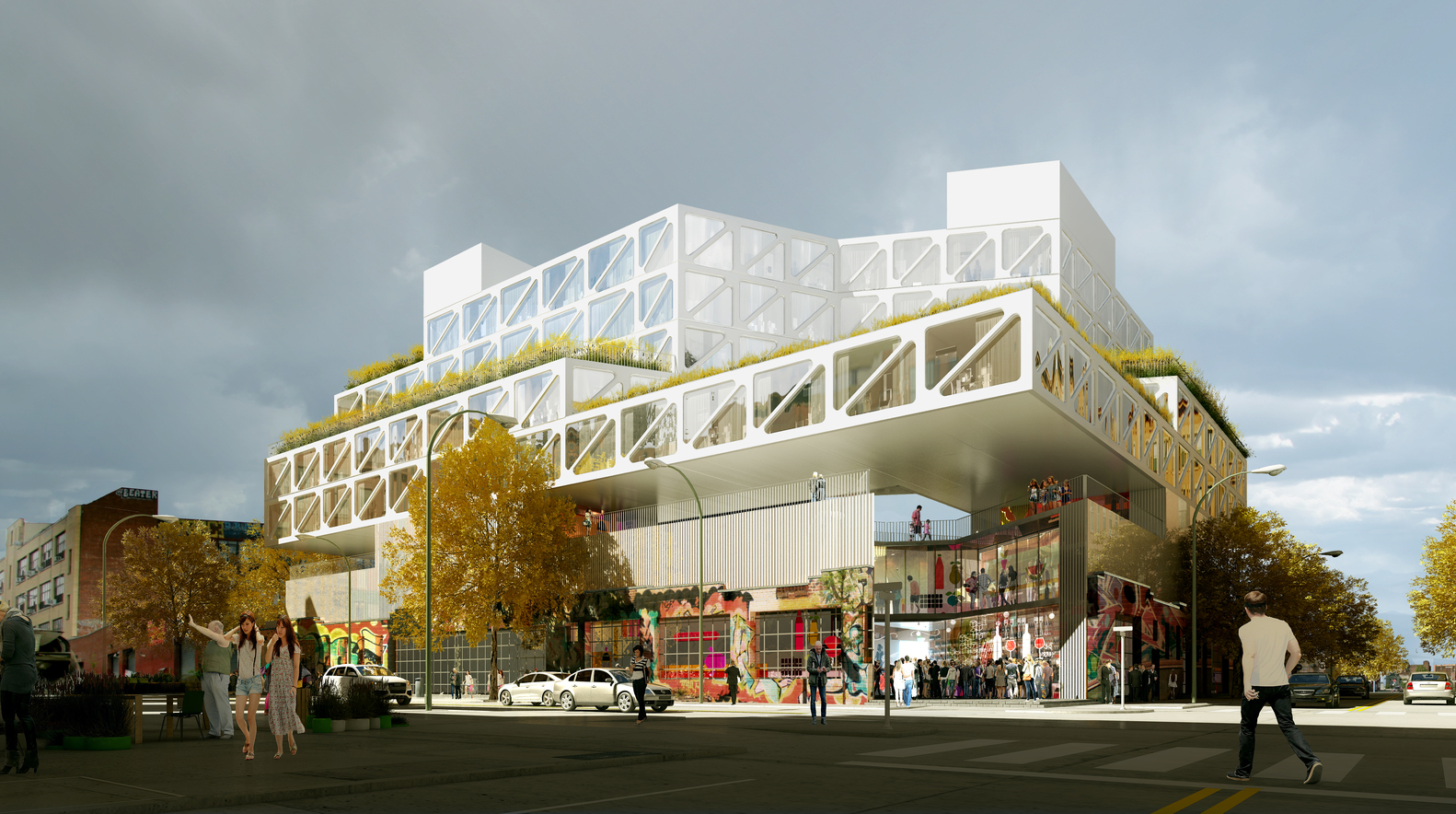 Renderings Revealed For Cantilever King Oda S Bushwick