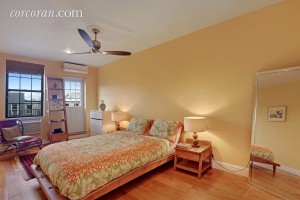 118 St. Marks Place, master bedroom, rental, duplex