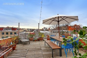 118 St. Marks Place, private roof deck. roof deck, park slope, duplex rental