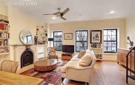 118 St. Marks Place, living room, duplex, rental, park slope