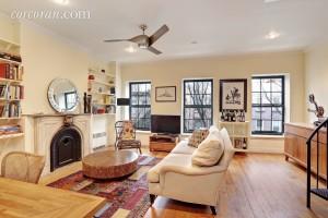 118 St. Marks Place, living room, duplex, rental, park slope