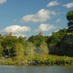 Central Park-island in the lake-today