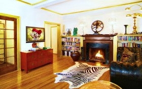 242 East 19th Street, living room, co-op, one-bedroom, fireplace
