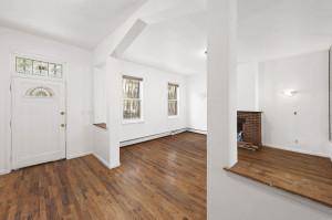 288 Chauncey Street, shotgun house, living room, renovation
