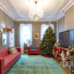 416 henry street, christmas tree, living room, rental, brooklyn rental
