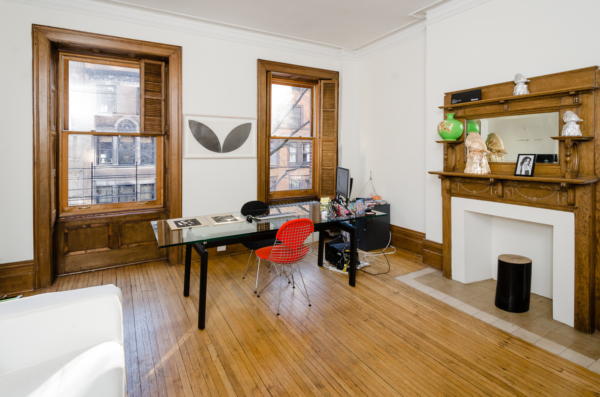 315 west 78th street, office, original windows, shutters, mantle, fireplace