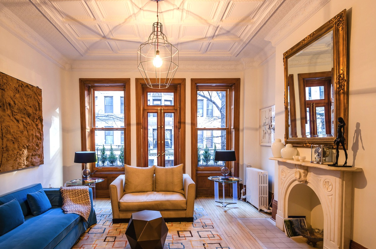 Historic uws townhouse filled with bold modern furniture hits the rental market