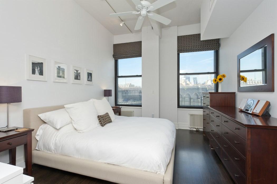 70 Washington Street, master bedroom, dumbo, condo, views, Brooklyn Bridge