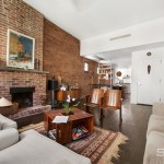 228 East 22nd Street, living room, exposed brick, duplex rental
