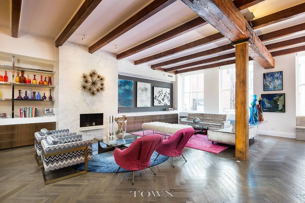 Soho loft perfection 39 by the same designer as barneys for Loft in manhattan for sale