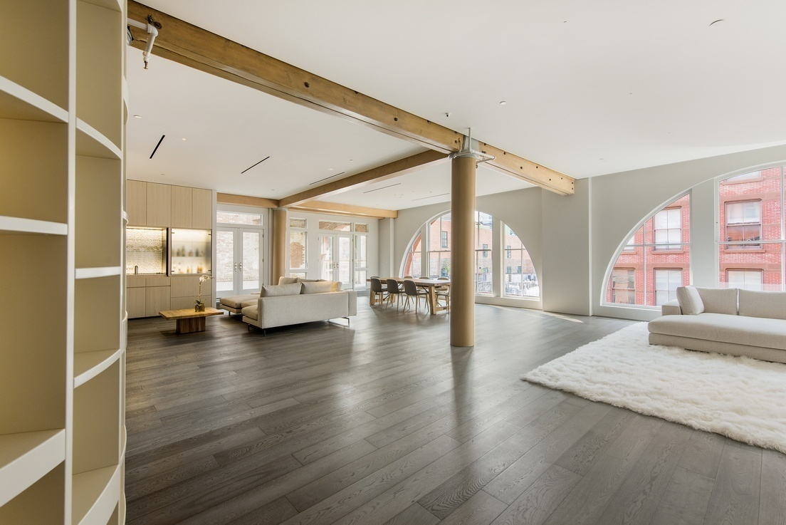 this 23 million soho loft comes with designer furniture and a motorized headboard 6sqft. Black Bedroom Furniture Sets. Home Design Ideas