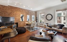 living room, rental, 14 west 95th street, brownstone