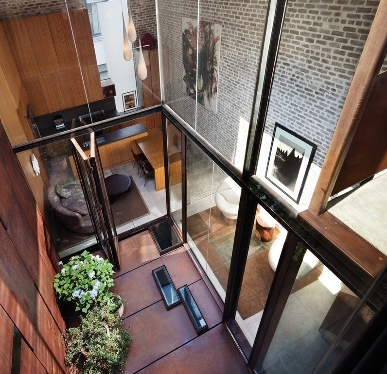 75 Warren Street, Tribeca, Townhouse, Interiors, Architecture, Dean Wolf Architects, Inverted Warehouse Townhouse, Corten, cool listings, manhattan townhouse for sale, modern townhouse