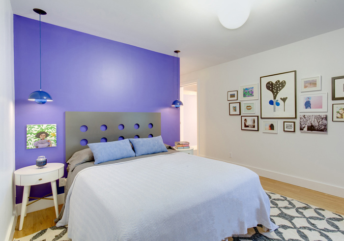 Windsor Terrace Home Plays With Patterned Accent Walls And
