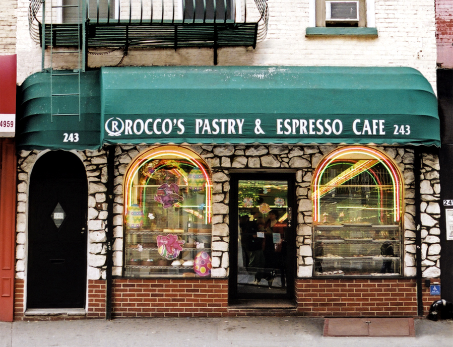 ROCCO'S PASTRY SHOP & CAFE, NYC SIgnage