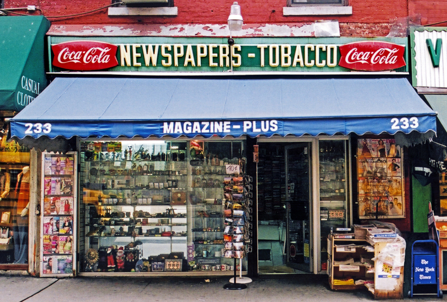 MAGAZINE - PLUS, NYC signage
