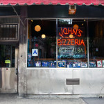 JOHN'S of BLEECKER STREET, NYC signage
