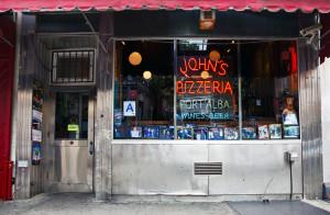 JOHN'S of BLEECKER STREET, NYC signage