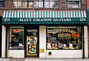 MATT UMANOV GUITARS, NYC signage