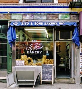 ZITO & SONS BAKERY, NYC signage