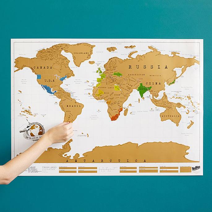 Keep Track of Your World Travels With This Colorful Scratchoff
