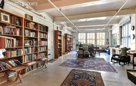 50 West 29th Street, nomad, loft, living room, bookshelves