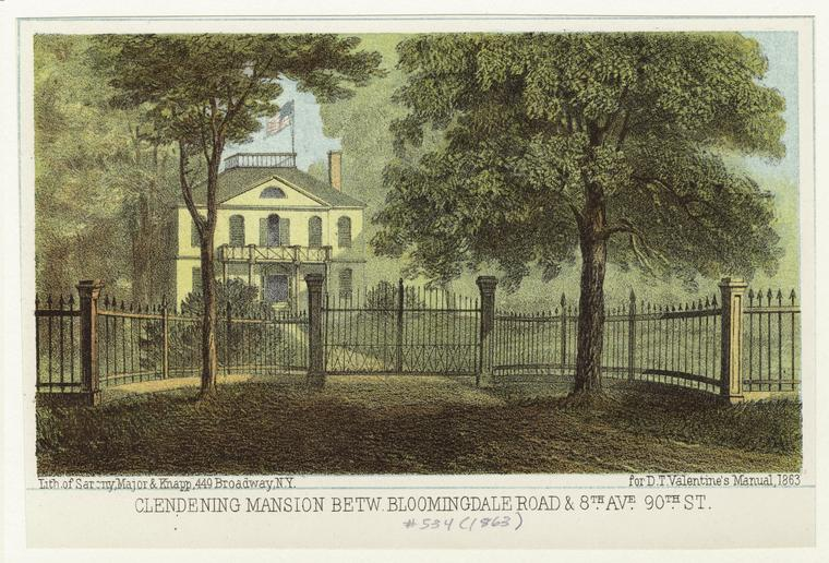 Clendening Mansion, Bloomingdale Village, Upper West Side history