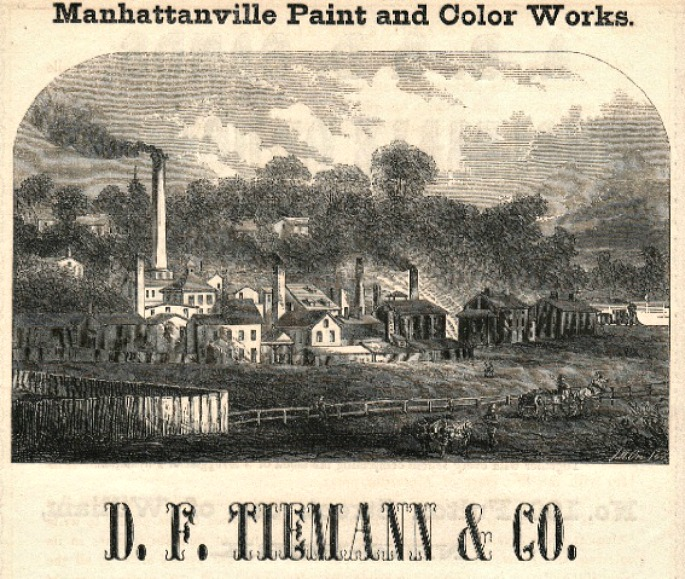 D.F. Tiemann & Company Color Works, Daniel F. Tiemann, Manhattanville, lost villages of the Upper West Side