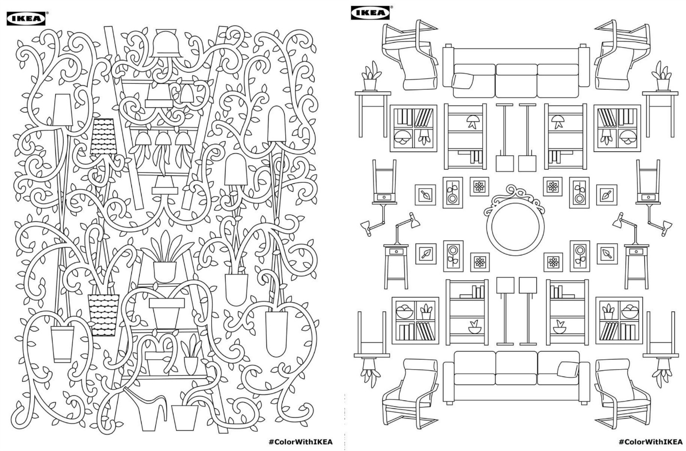 Download Ikea\'s Adult Coloring Book for Free! | 6sqft