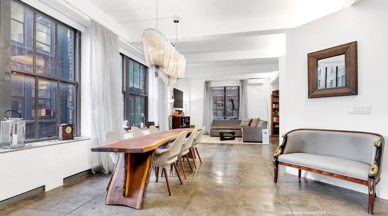 249 West 29th Street, chelsea, loft, dining area,