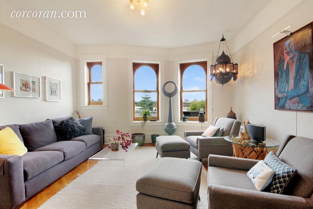 523 8th Street, park slope, rental, living room