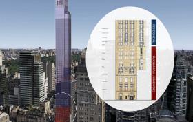 520 Park Avenue, mechanical levels, residential levels, building on stilts