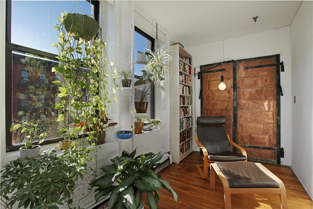 93 lexington avenue, sitting area, loft, loft co-op, clinton hill, copper elevator