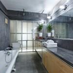 93 lexington avenue, bathroom, poured concrete, loft apartment, brooklyn