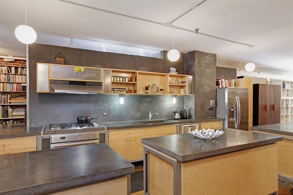 93 lexington avenue, clinton hill, loft apartment, brooklyn, kitchen, modular kitchen