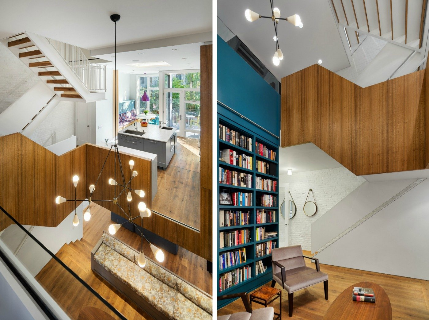 redtop architect s east village reno combines mid century modern redtop architects east village townhouse is a modern interpretation of the split level home
