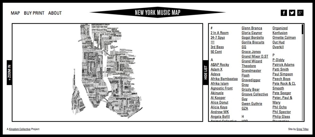 New York Music Map 1