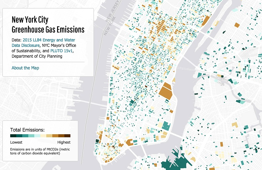 NYC Greenhouse Gas Emissions, NYC maps, Jill Hubley