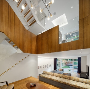 red top architects, East Village townhouse, mid-century modern, contemporary renovation