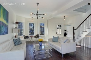 227 East 9th Street, living room, kensington, brooklyn townhouse