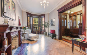 226 garfield place, parlor floor, living room, park slope, brownstone