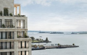 Robert A.M. Stern, 70 Vestry Street, Tribeca developments, Hudson River Park, limestone construction