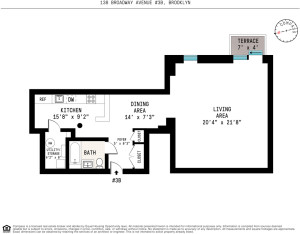 138 Broadway, floorplan, loft studio, williamsburg, the smith gray