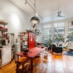 138 Baxter Street, rental, loft, dining room, living room