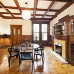 857 Carroll Street, Park Slope, dining room, fireplace, townhouse, matthew blesso